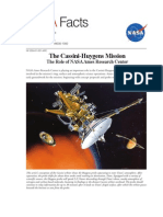 NASA Facts the Cassini-Huygens Mission the Role of NASA Ames Research Center