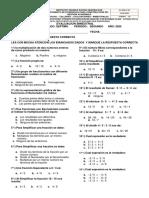 Bimestral matematicas 2° periodo.