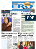Baltimore Afro-American Newspaper, January 15, 2011