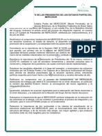 CANCILLERÍA-Mercosur-Comunicado Conjunto Estados Partes Del MERCOSUR