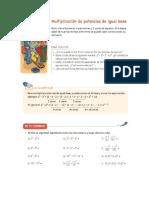 Guía multiplicación de potencia igual base
