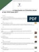 acontecimientos-importantes-en-colombia-desde-el-ano-1810-hasta-2017