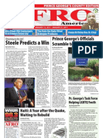 Prince George's County Afro-American Newspaper, January 15, 2011