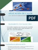 APLICACIÓN DE CALOR Y FRIO