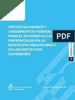 Protocolo de regreso a clases presenciales