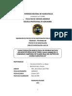 PROYECTO CARACTERIZACIÓN MORFOLÓGICA  RIZOBIOS NATIVOS AISLADOS NÓDULOS TARWI
