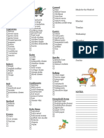Weekly Grocery Checklist