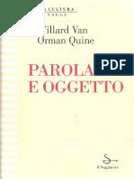 Quine_Parola e oggetto