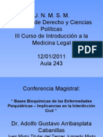Bases Bioquimicas de las enfermedades psiquiatricas
