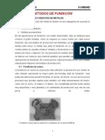 METODOS DE FUNDICIÓN