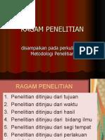 RAGAM PENELITIAN ( II )