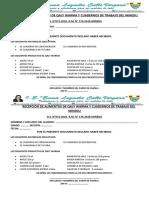 DECLARACION JURADA DE RECEPCION DE ALIMENTOS Y CUADERNOS DE TRABAJO