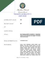 Proyecto de Ley 287. Medidas económicas y financieras. ZR