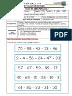 GUIA DE APRENDIZAJE 5 descomposicion en factores primos 5° MATE