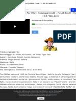 La storia di Tex Willer