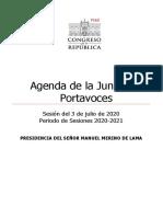 AGENDA-JP 3 de Julio de 2020