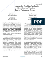 Cognitive Strategies for Teaching Reading in Primary School Teacher Training Curriculum in Vietnamese Context