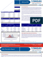 DERIVATIVE REPORT FOR 13 JAN - MANSUKH INVESTMENT AND TRADING SOLUTIONS