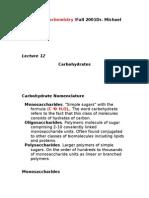 BCH 4053 Biochemistry I Fall 2001 Dr