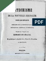 Edmond de Chazal 2sur4 CATECHISME de La NOUVELLE JERUSALEM 1860 Pamphlets Rev Pierre LeBrun Ile Maurice