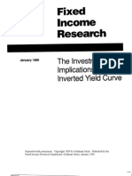 [Goldman Sachs] Fixed Income Research - The Investment Implications of an Inverted Yield Curve