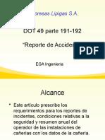 DOT 49 parte 191-192  NFPA 58