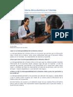 INTEROPERATIBIDAD DE LA HCE-Así funcionará la historia clínica electrónica en Colombia