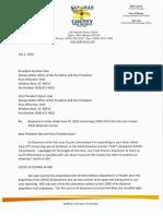 San Juan County letter