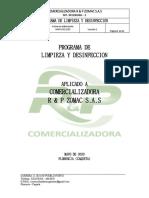 1. PROGRAMA LYD Limpieza y Desinfeccion R&P