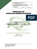 2. PROGRAMA PRS Manejo Residuos Sólidos R&P
