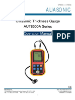 ALIA Manual AUT8500A Thickness Gauge
