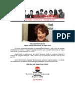 02jul2020 - Comité Central - Ante El Sensible Fallecimiento de Ángela Jeria