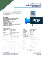 Alia AUF760 Ultrasonic Flange Flowmeter