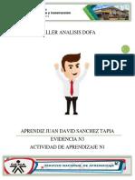 TALLER ANALISIS DOFA