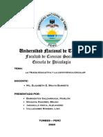 INFORME TRIADA EDUCATIVA - CONVIVENCIA ESCOLAR