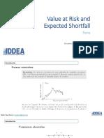 VaR y Expected Shortfall - Charla