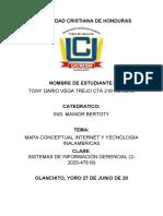 MAPA CONCEPTUAL INTERNET Y TECNOLOGIA INALAMBRICAS