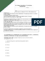 5° año  -  Matemática  -  GUIA N° 4 -   Multiplicación