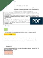 7° año  -  Matemática  -  Guía recapitulación    -   Area de cuadrilateros y triangulos y Plano Cartesiano