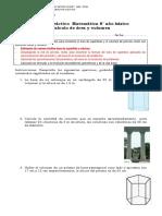 8° año  -  Matemática  -  GUIA N°  -  Calculo de area y volumen n° 1