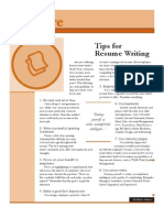 Tips Resume Writing