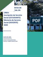 PROCEDIMIENTO DE SERVICIO SOCIAL EN LÍNEA