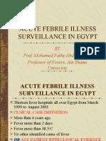 Acute Febrile Illness Surveillance in Egypt