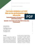 Dialnet-CurriculoSistemicoYElVivirBienEnLosProfesionalesDe-6275736