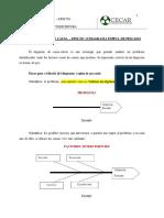 Pasos para realizar el diagrama de causa - efecto (Didáctica de la lectoescritura)