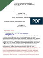 LEGE 554_2004 - Modificare 05 Iulie 2019 Contencios administrativ