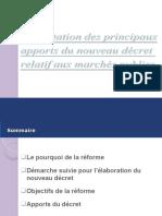 Apports du décret Présentation