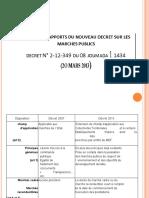 Principaux apports du nouveau décret sur les marchés_Sep 2013 (1)