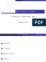 Is inequality harmful to growth Persson and Tabilleni 94