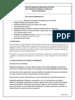 Guía Ética N0 1.  DESARROLLAR PROCESOS COMUNICATIVOS
